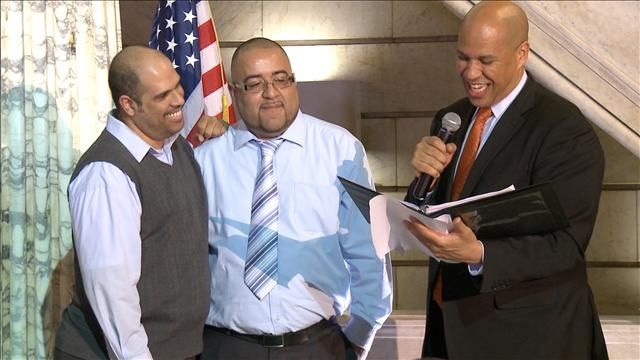 News video: Cory Booker Marries Same-Sex Couples in Newark